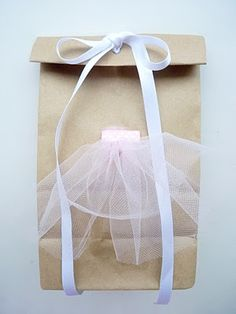 Gift bag for a dance teacher - cute!