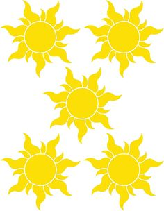 yellow sun for tangled banner