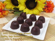 Homemade Chocolate from Scratch- Make your own simple, yet healthy chocolate from scratch! These delectable chocolates will melt in your mouth and provide a boost of healthy... (click on photo for recipe)