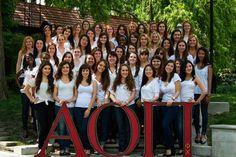 Alpha Omicron Pi at University of Chicago #Greek #Sorority #AlphaOmicronPi #AOPi #AOII