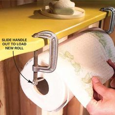 C-Clamp Paper Towel Rack - One of 18 quick and clever workshop ideas from The Family Handyman Magazine