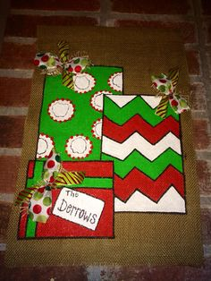 Christmas Burlap Garden Flag on Etsy, $25.00