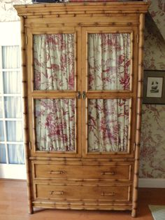 Faux bamboo and toile
