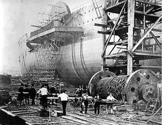 VICTORIAN LEVIATHAN: The Great Eastern was a marvel of her age: a steam and sail vessel with two sidewheels, 6 sailing masts & 4 boilers.  At 207 (l) x 25 (w) meters in dimension, she could easily transport either 4000 passengers or 10000 troops around the world without stopping along the way.  Sadly she was expensive to run and passed thru different owners until she was eventually being scrapped.  It took 2 years to dismantle her & a body was found in the double walled hull during dismantling