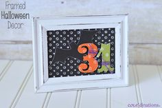 Framed Halloween Decor with Core'dinations