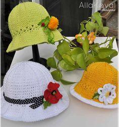 Garden Party Hat free crochet pattern