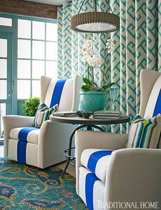 The Showhouse at Adamsleigh, layers of turquoise! Fun!