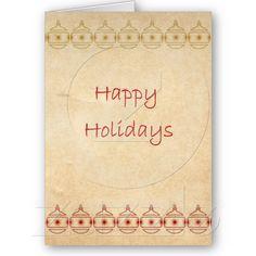 Happy Holidays Ornament Christmas Card