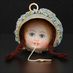 Vintage Girl String Holder
