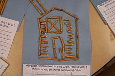Lincoln's Log Cabin - Repinned by @PediaStaff – Please Visit ht.ly/63sNtfor all our pediatric therapy pins