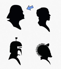star wars silhouettes. LOVE.