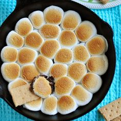 Who needs chips and salsa when you have graham crackers, gooey chocolate, and marshmallows?