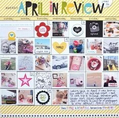 This,layout is just gorgeous! {april in review} by jenrn at @Studio_Calico