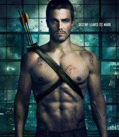 Stephen Amell from Arrow--never seen the show but this DEF makes me want to watch it!