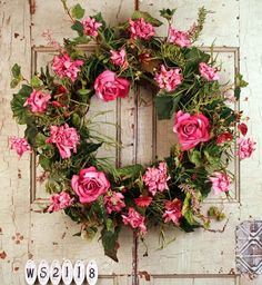 Everythings Coming Up Roses Summer Silk Wreath