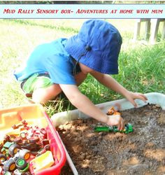 Mud sensory bin- Rain, Rain, Come and Play: Backyard Adventures for the Wet Season - ParentMap
