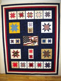 Quilts of Valor: Floating Stars in Idaho float star, patriot quilt