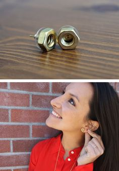 Who knew hex nuts could be so chic? Digging these Hex Nut Studs.