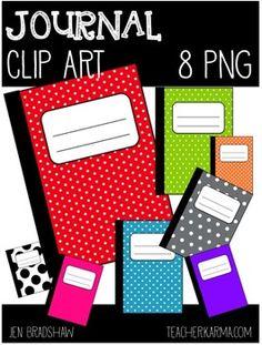 FREE Clip Art:  JOURNAL~ Notebook ~ Writing ~ Book ~ Clipart