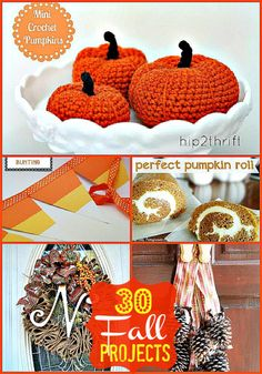 30 FALL Projects to make for YOUR home -- Tatertots and Jello #DIY #Fall