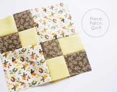 Piece, Patch, Quilt: basic quiltmaking skills from Craftsy
