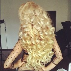 Stunning Golden Blonde Curly Hair