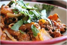 """This recipe for an All-Day Beefy Pasta """"Bake"""" is one of those slow cooker casserole recipes that's so easy to make, you don't even need to boil the noodles--you add them into your crock uncooked."""