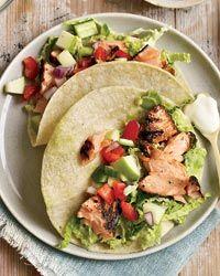 Chipotle-Rubbed Salmon Tacos Recipe