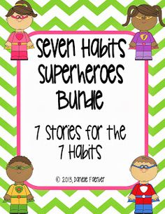 7 books for the 7 habits - perfect for primary students