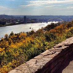 A beautiful view of the #Ohio River from Eden Park in #Cincinnati