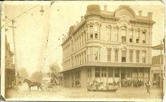 Downtown Stockton, California late 1800's during flood around Business College. www.CelebrateStockton.com