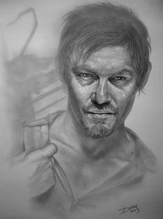 Daryl Dixon, The Walking Dead, by Darrel Bevan