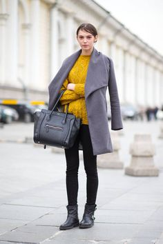 Ladies in Moscow show how street style chic happens in cold weather.