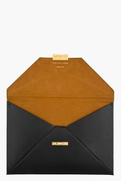 STELLA MCCARTNEY Black Envelope Clutch