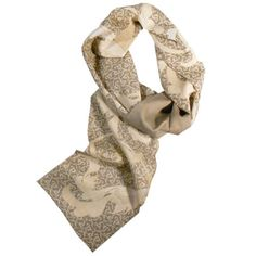 Gorgeous ivory, taupe, & gold colors to brighten up your Fall wardrobe! Soft luxry organic scarf #MadeInUSA  Use 'SCARFJOY' for 30% off your order.