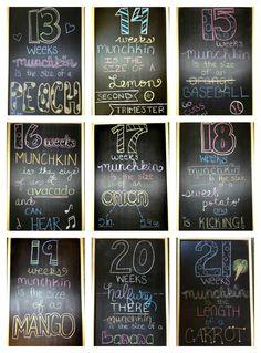 Chalkboard Weekly Pregnancy Updates!  www.littlebabymeiklejohn.blospot.com
