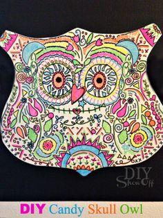 DIY  Candy Skull Owl Tutorial