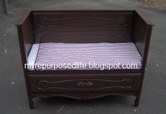 Upcycled furniture gallery - dresser to garden bench + more