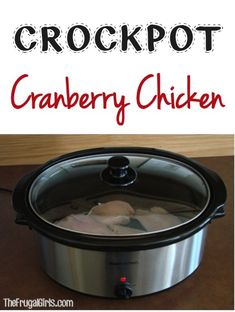 Crockpot Cranberry Chicken Recipe! ~ from TheFrugalGirls.com {such an easy and yummy crockpot dinner ~ a taste of the holidays all year long!} #crockpot #slowcooker #recipes