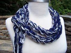 Dallas Cowboys crochet scarf....gotta have this!
