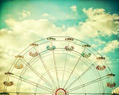 Ferris wheel photography nursery print wall by Carl Christensen