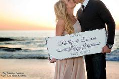 Vintage SAVE THE DATE Sign Wedding Sign by MyPrimitiveBoutique