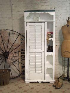 Handmade One Of A Kind Shabby White Farmhouse Cabinet