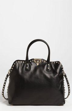 Valentino 'Rockstud' Leather Dome Handbag