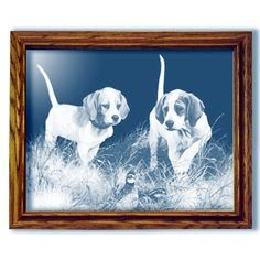 Beginners Luck Bealge Dog Large Rectangular Mirror