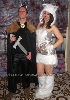 Homemade Costume Contest: Cool Jon Snow and Ghost Homemade Couple Costume