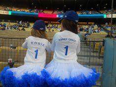 Sophia Grace and Rosie at Dodger Stadium.