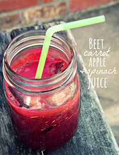 Beet, Carrot, Apple, & Spinach Juice