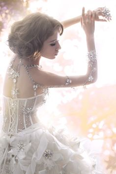 adorned with jewels