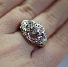Vintage Ladies Diamond Ring - 14k White Gold, $600.